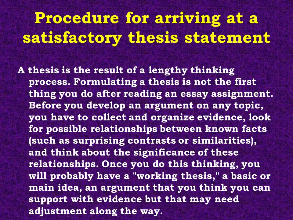 steps in formulating a thesis statement Writing: main idea, thesis statement & topic sentences  in order to formulate  our answer, we should refer back to our prewriting, in which we generated some .