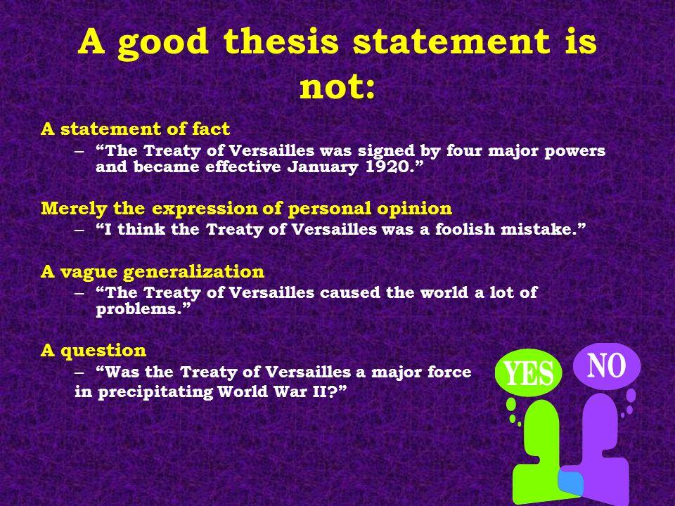 teacher thesis statement