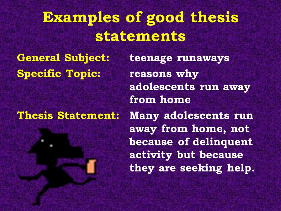 good thesis statement example for research paper Online writing lab much like the above example, this thesis statement also has the paper, but this type of thesis is generally referred to as a.