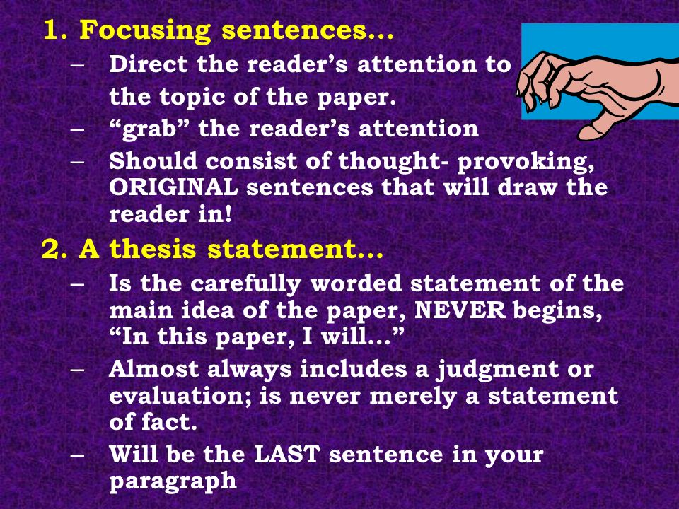 Thought provoking statements essays