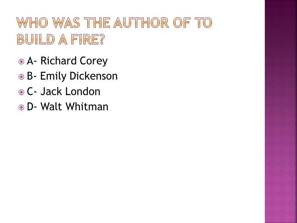 richard cory author