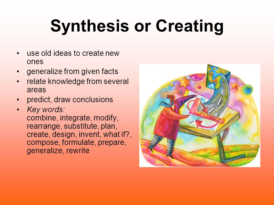 Synthesis or Creating use old ideas to create new ones