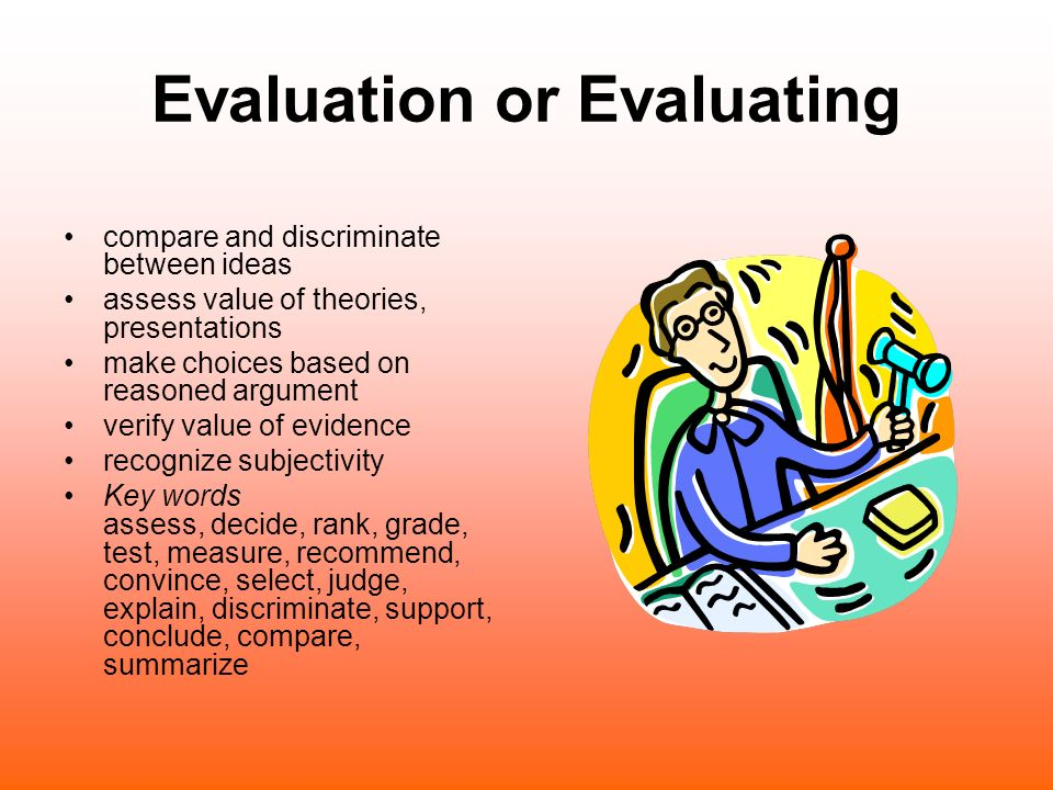 Evaluation or Evaluating