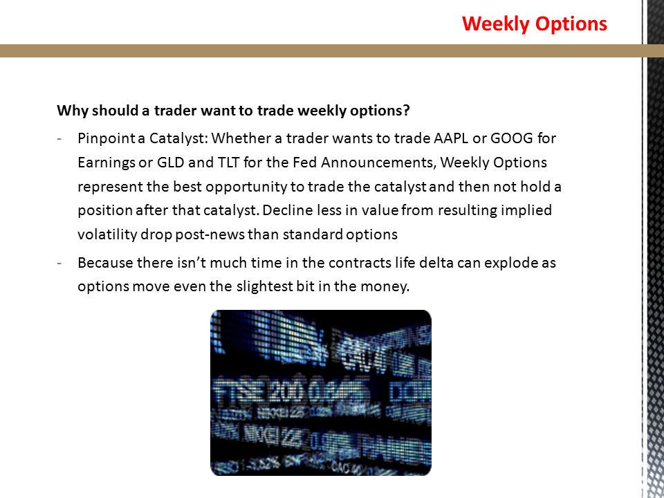 Trade weekly options videos
