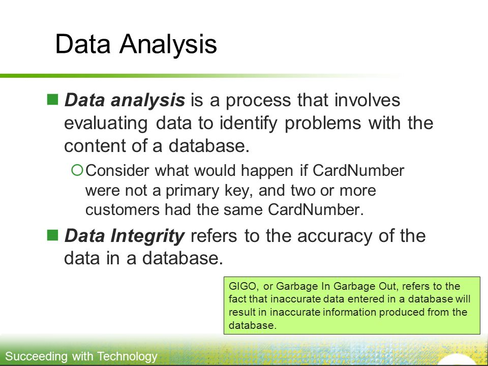 Problem Solving and Data Analysis
