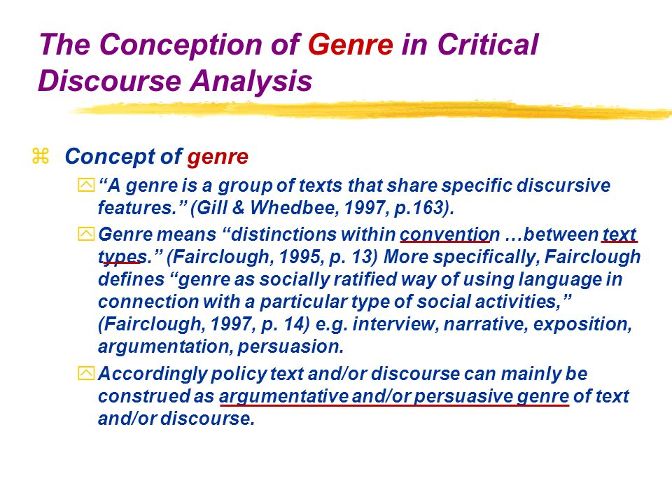 analysis through genre The analysis and synthesis approach to  analysis and synthesis of genesis  would seem to imply mosaic authorship for genesis as it does for exodus through.