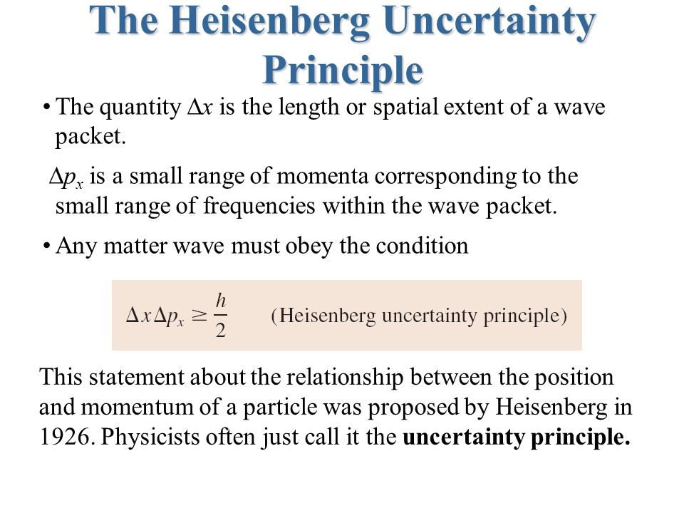 Wavefunctions and Uncertainty - ppt video online download