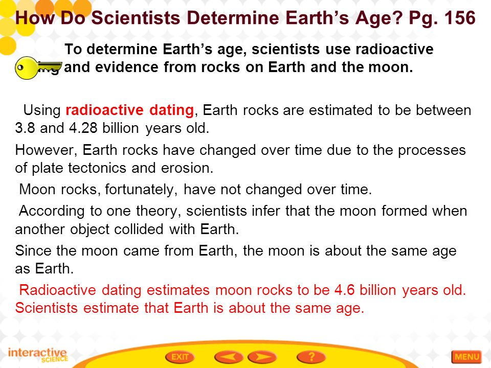 How Old is the Earth Radiometric Dating