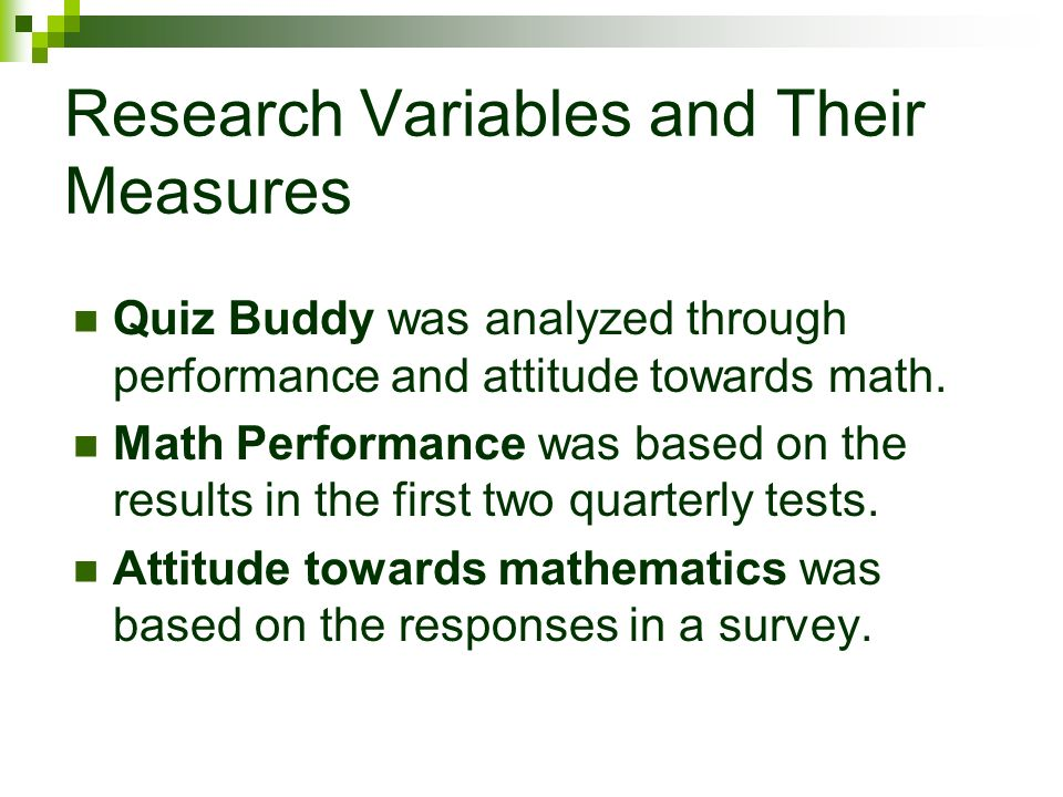 variables and measures in thesis