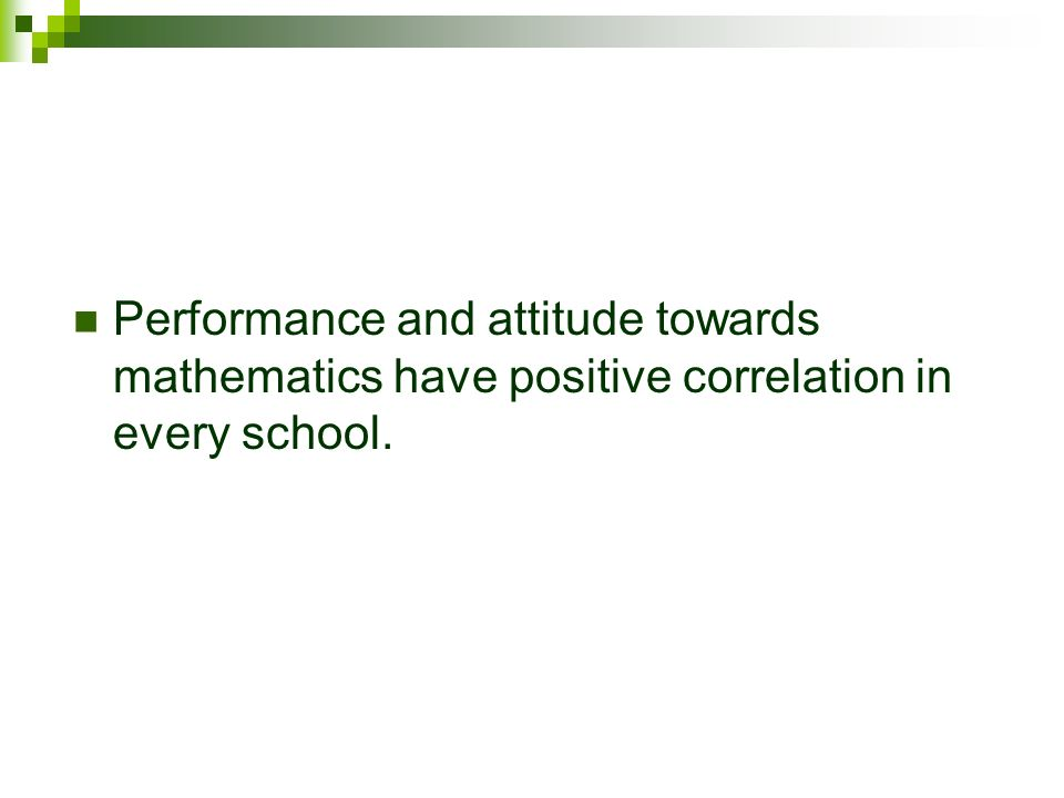 students attitude towards mathematics pdf