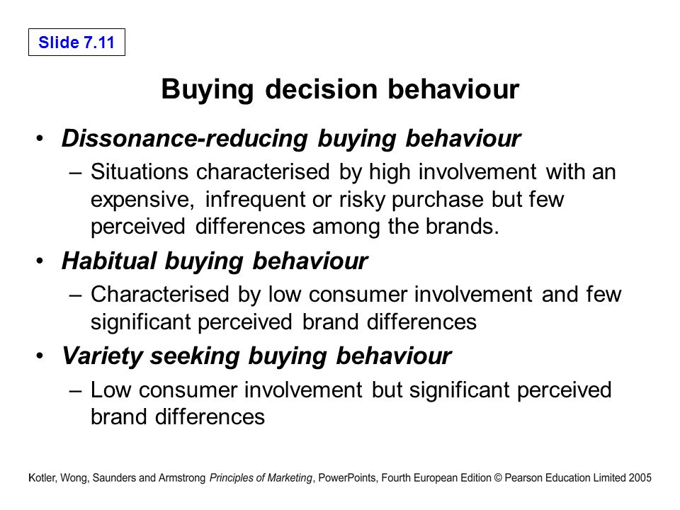 Compare high involvement and low involvment consumer behaviour
