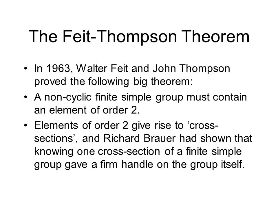 The Feit-Thompson Theorem