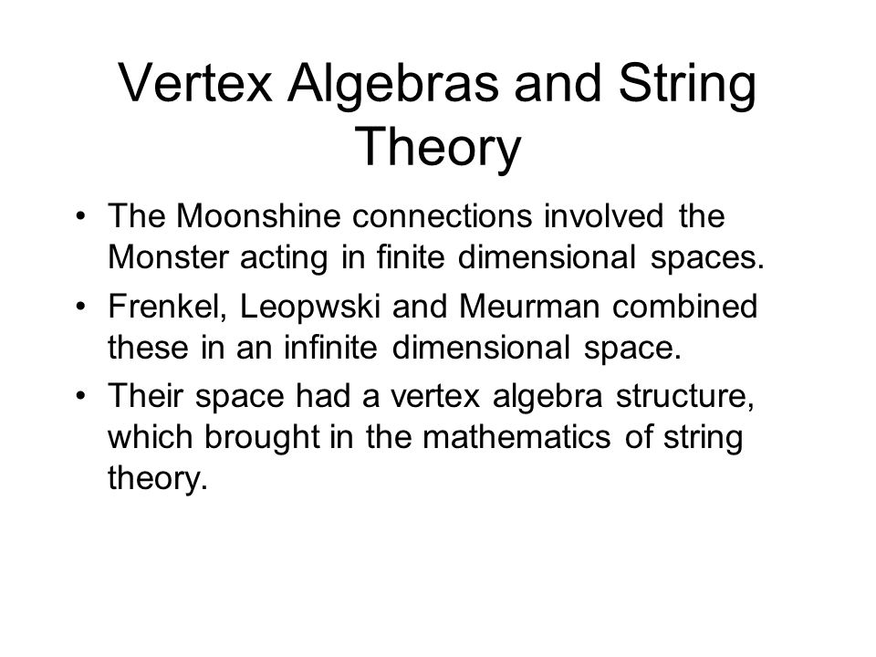 Vertex Algebras and String Theory