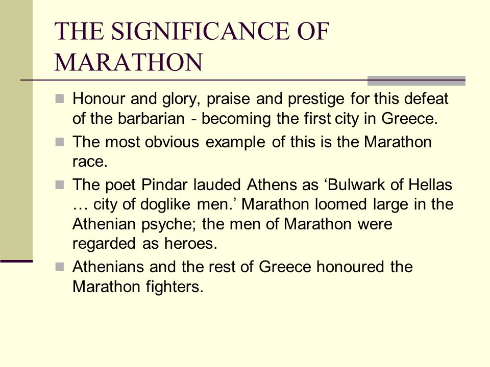 the battle of marathon essay example Western democracy, culture and philosophy were on the line when the greeks faced the persians at marathon by jason k foster battle of stones river.