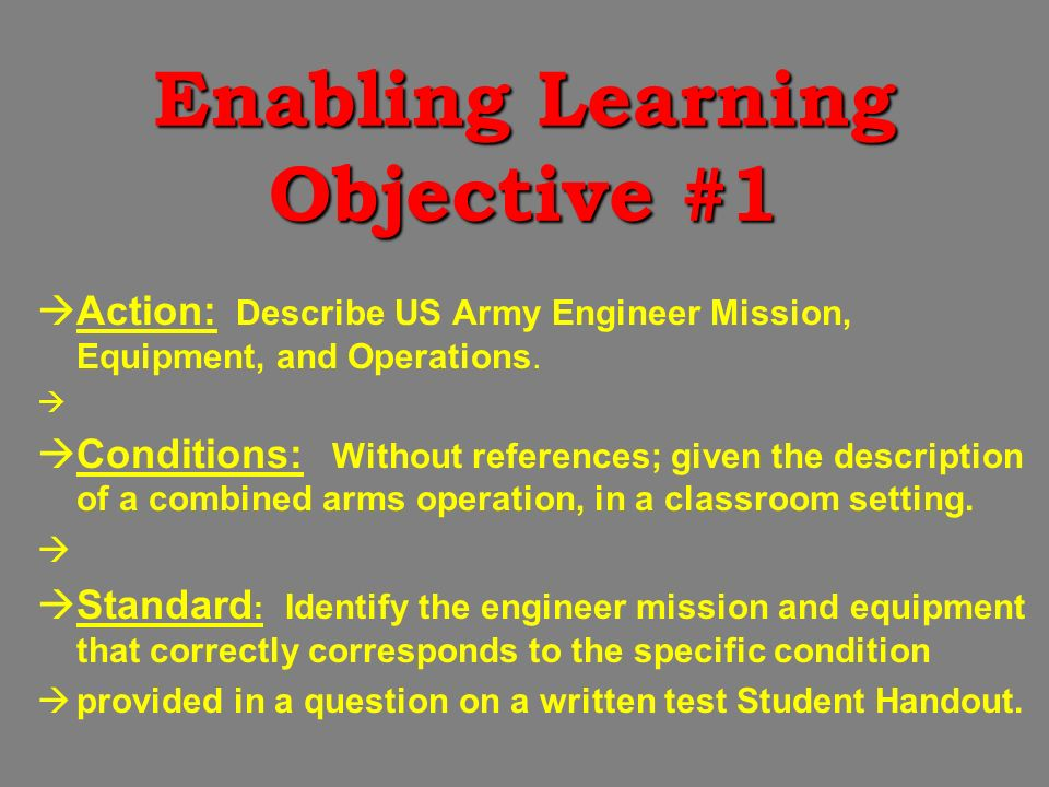 Engineer Operations. Engineer Operations Terminal Learning