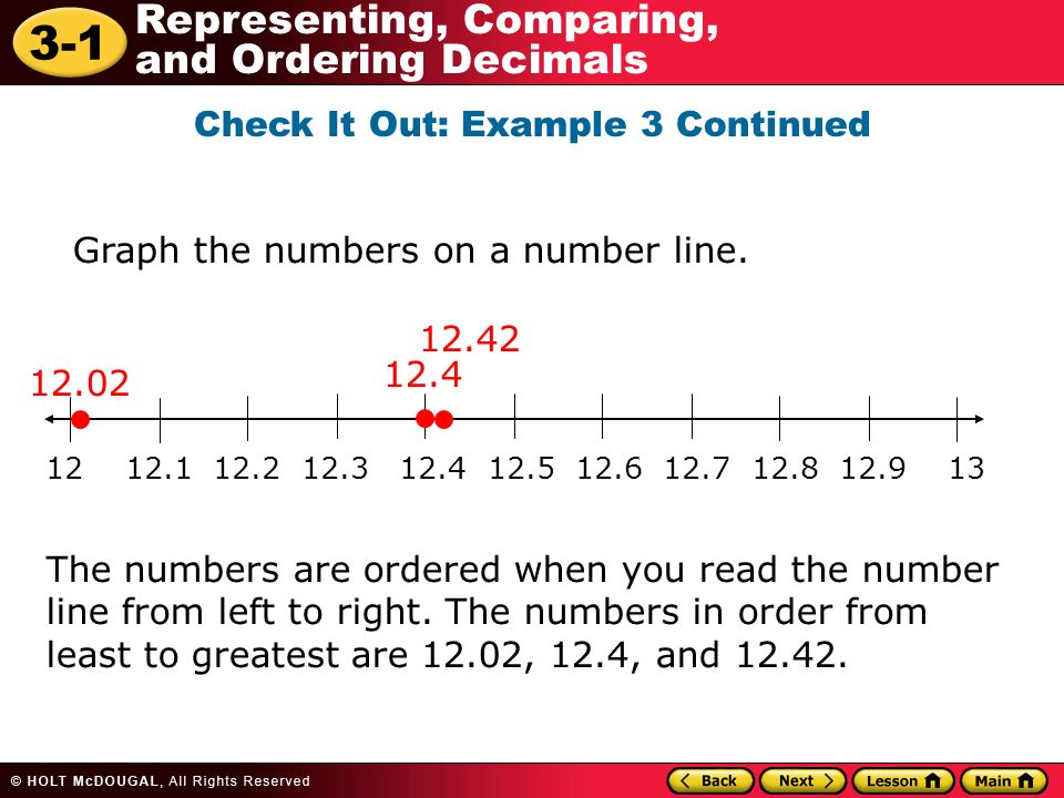 Additional Example 1: Reading and Writing Decimals - ppt video ...