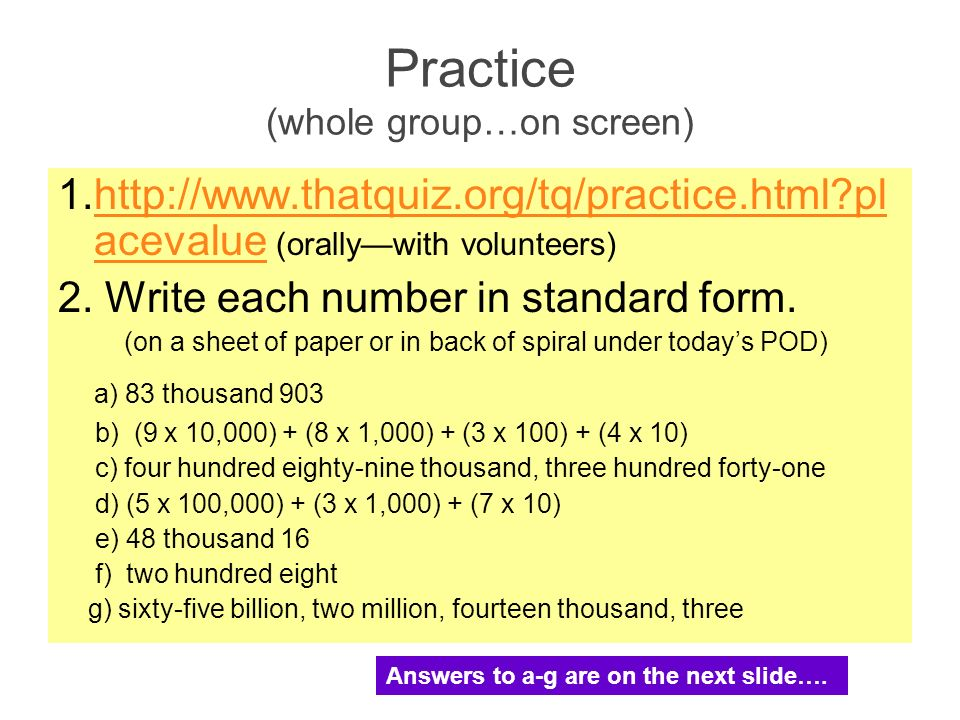 Numeration Place Value Ppt Video Online Download