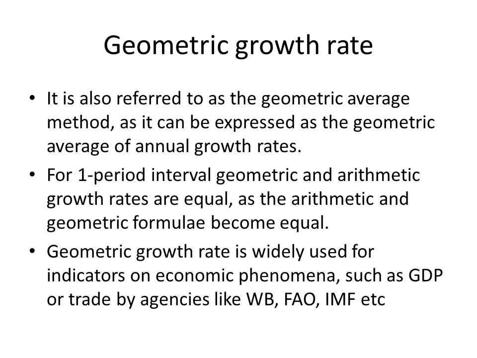 Geometric Growth Rate Calculator
