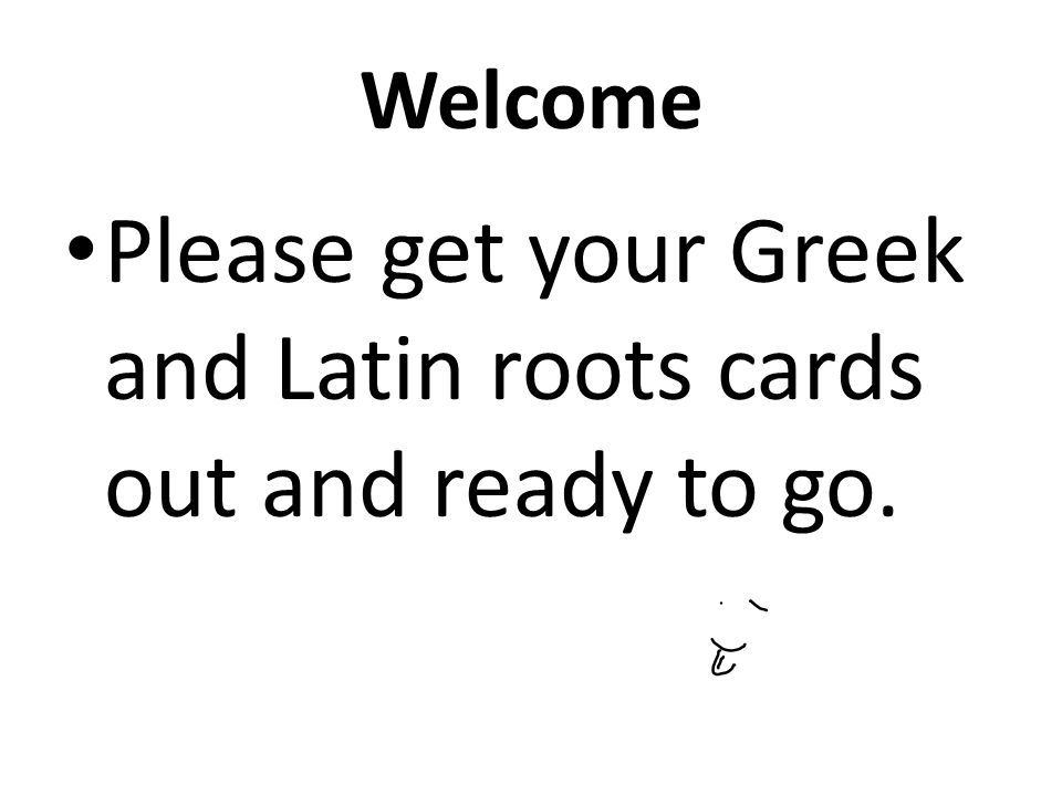 Your in latin