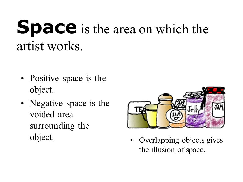 Space is the area on which the artist works.