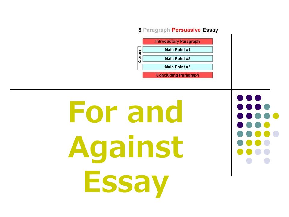 for and against essay ppt video online  1 for and against essay