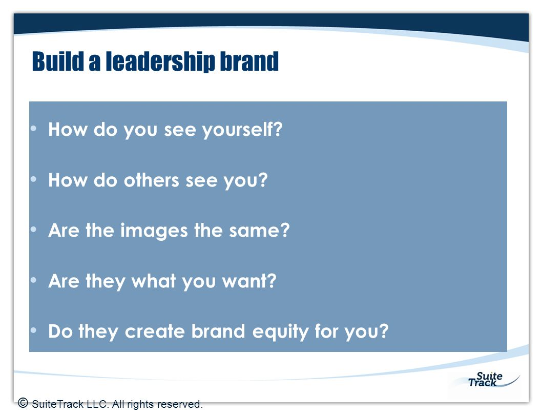 building a leadership brand