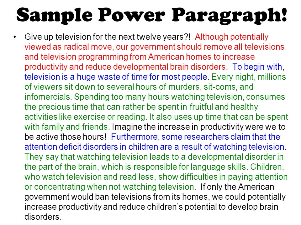 how to start a power paragraph