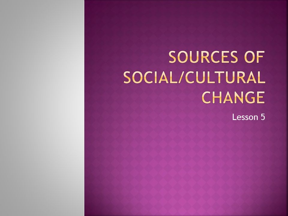 sources of social change pdf