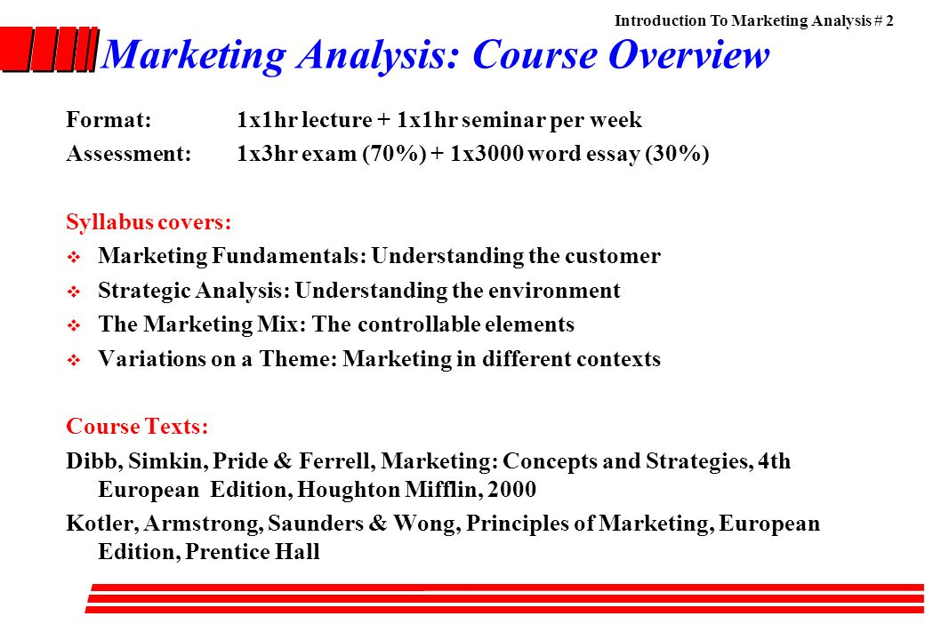 an analysis of different principles in marketing Marketing control: top 4 methods of marketing control  analysis of different sales:  different marketing expenses are watched in relations to sales.