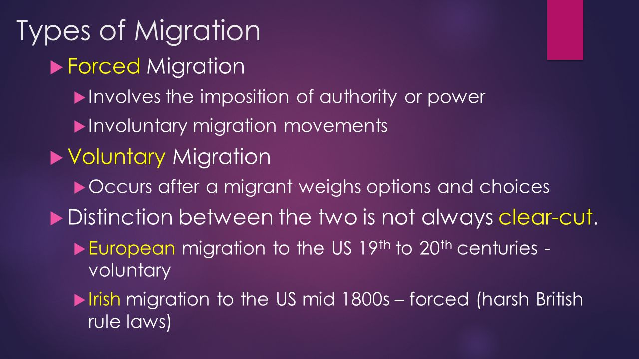 voluntary and involuntary migrating group Involuntary migration me ntar y de mo crac y on the traditional socio-cultural setup in india meant the persistence of the use of traditional group identities.