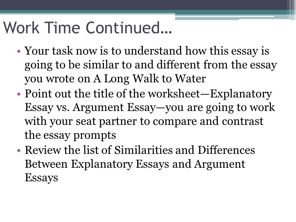 model essay a long walk to In lesson 11 you will share a model essay with students and should try to align the discussion of what makes the model essay effective with the criteria from the nys rubric that students must meet in their own essays.
