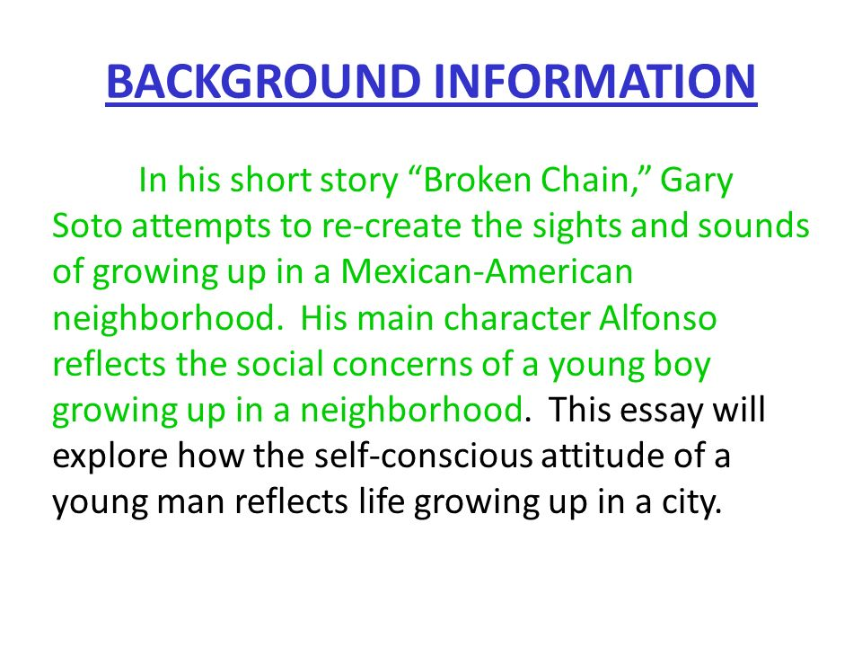Essay About Family Background