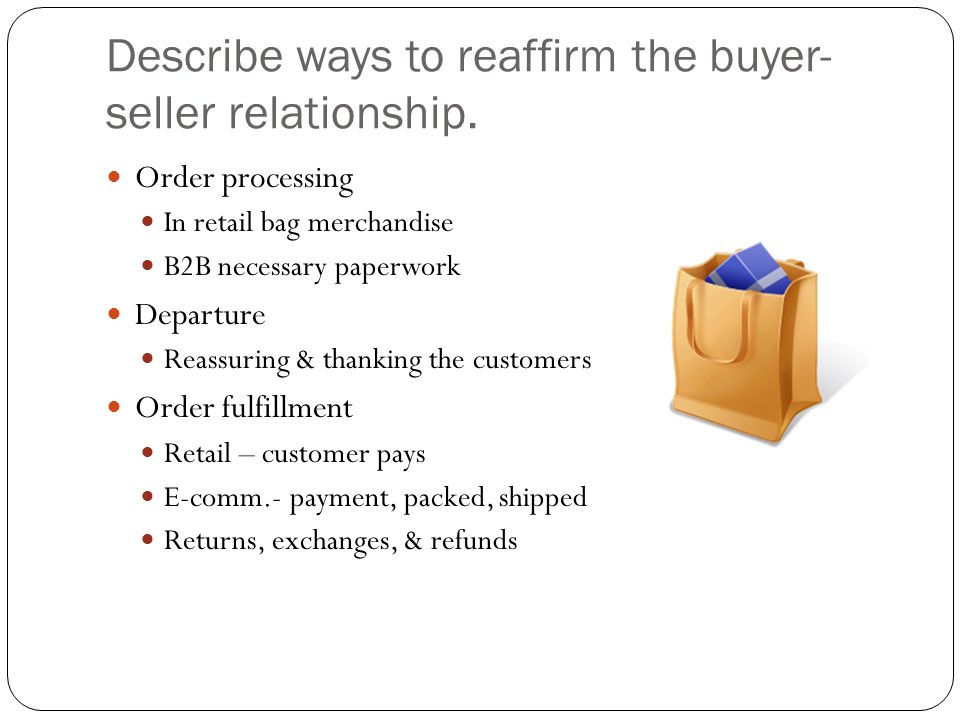 importance of buyer and seller relationship