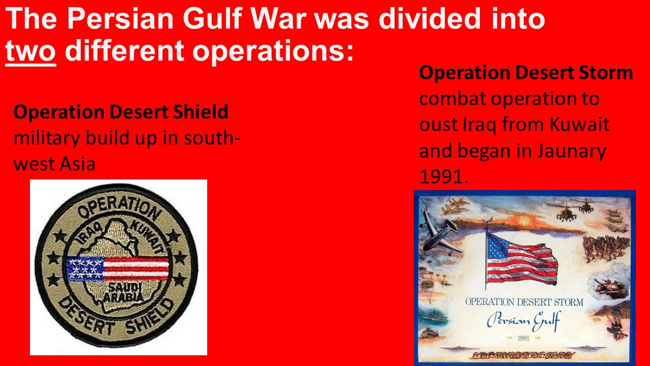 an overview of the military actions by the united states on the persian gulf war 1990-1991: resistance to the gulf war the united states resistance in the military the most effective action against war is of course the refusal by.