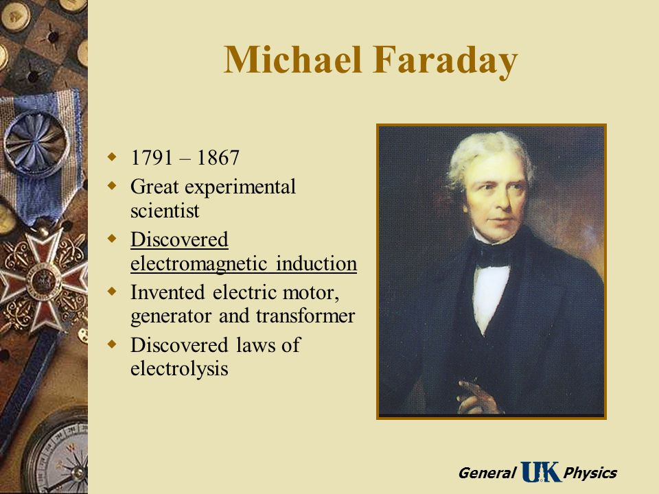Induced voltages and inductance ppt video online download for Michael faraday electric motor