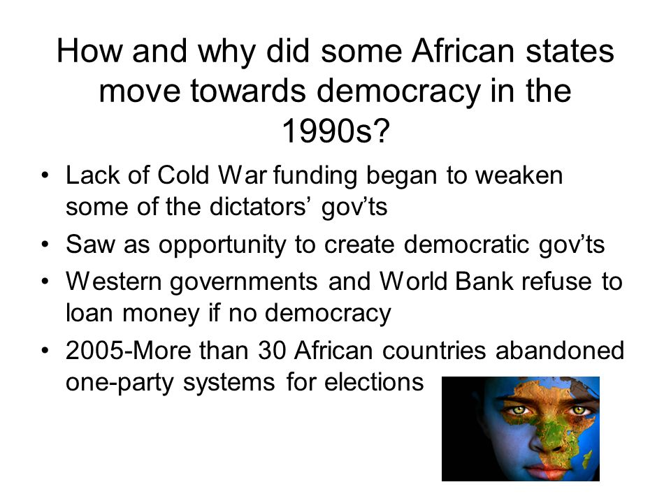 How and why did some African states move towards democracy in the 1990s