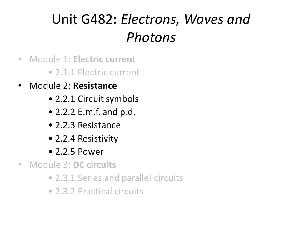 Unit G482: Electrons, Waves and Photons - ppt video online download