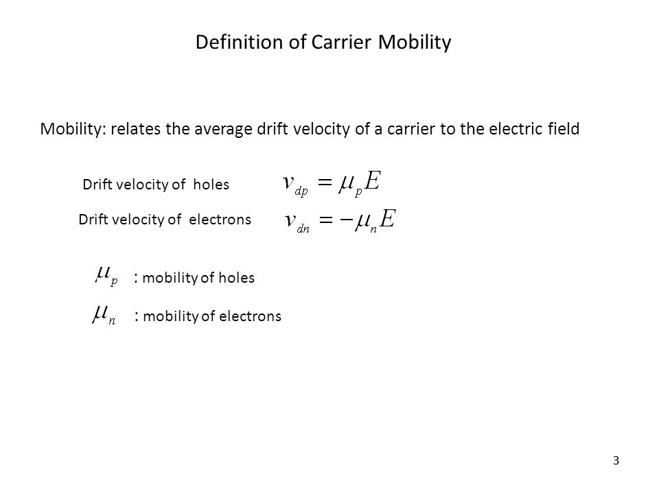 carrier definition. definition of carrier mobility