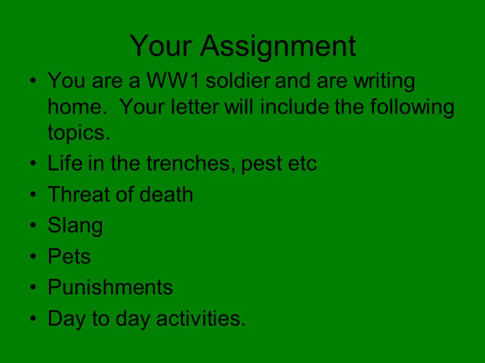 ww1 essay topics Unlike most editing & proofreading services, we edit for everything: grammar, spelling, punctuation, idea flow, sentence structure, & more get started now.