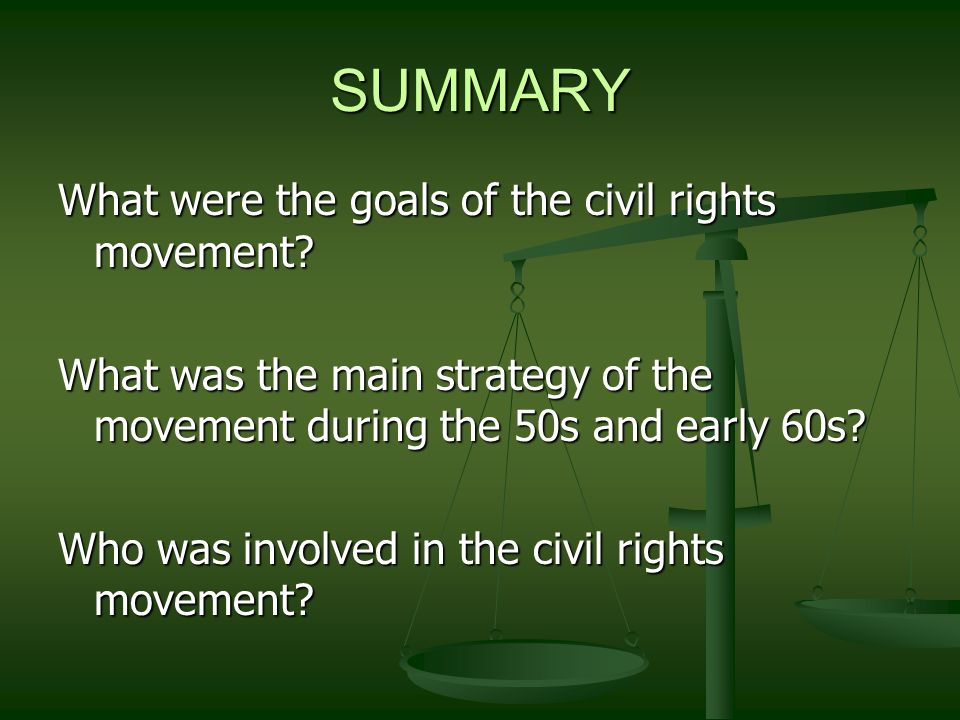 goals of the civil rights movement Our collection: 170 central park west new york, ny 10024 located on the lower  level of the new-york historical society privacy policy © 2009-2017 all rights.