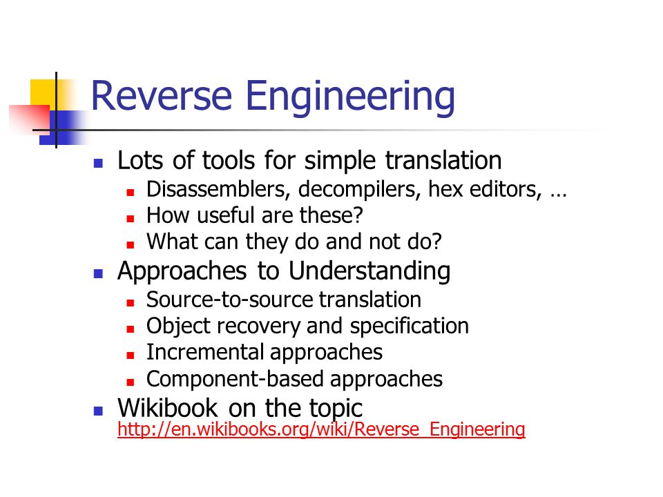 Maintenance Reverse Engineering Ethics - ppt video online ...