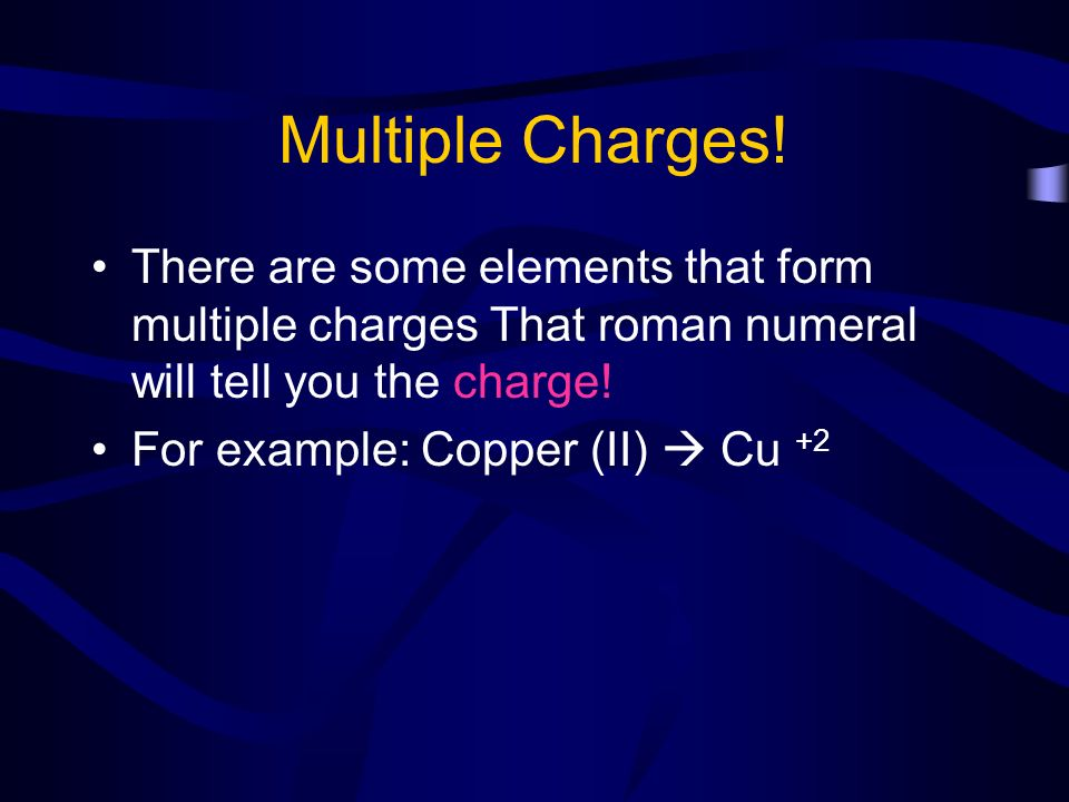 how to remember element charges