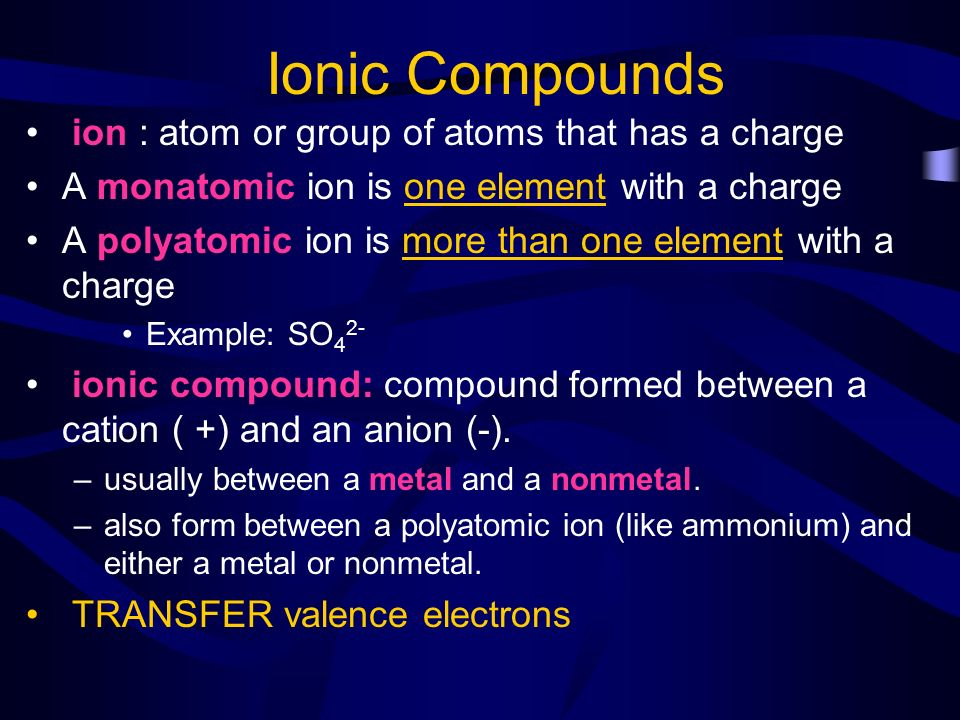 Naming Ionic Compounds - ppt video online download