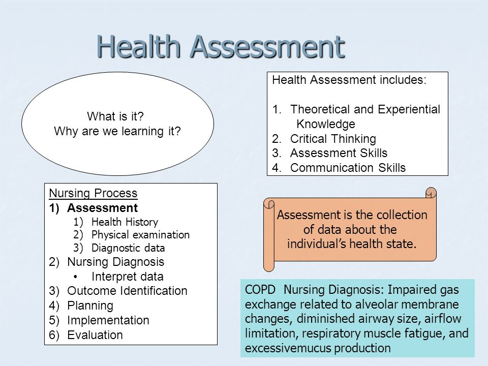 Comprehensive health assessment paper essay