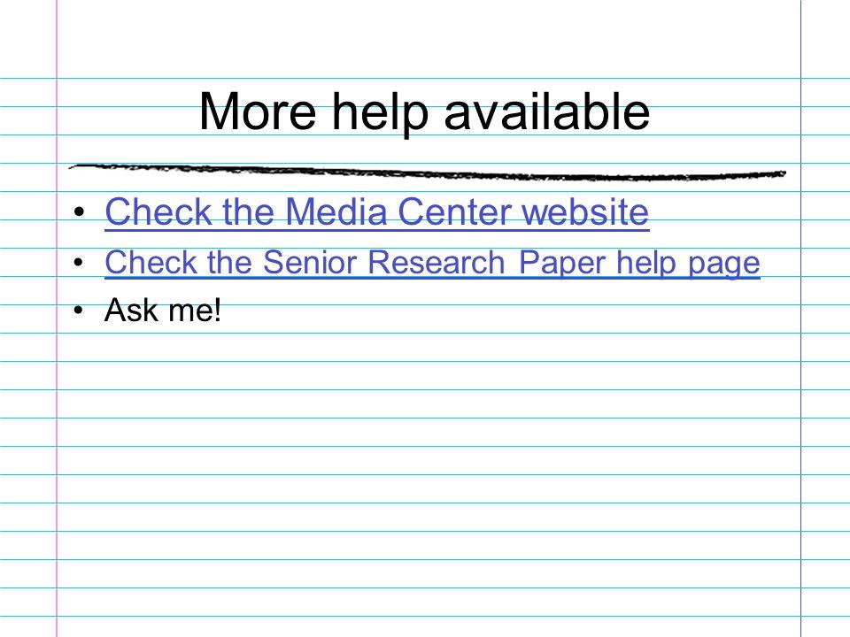 Senior research paper helper