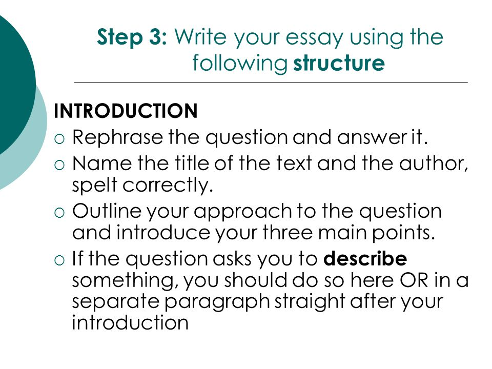 How do you write a responsive essay?
