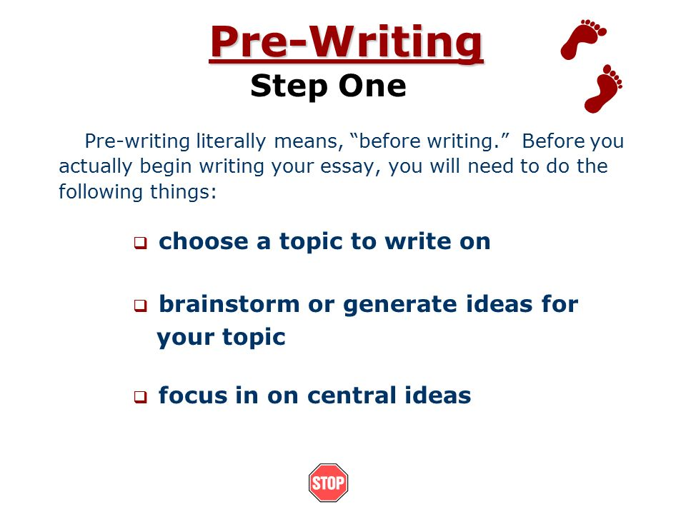 essay on the process of writing an essay