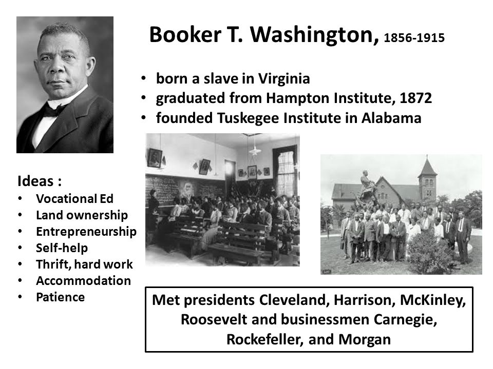 an introduction to the life of booker taliaferro washington The details of mr washington's early life, as frankly set down in up from slavery,  do not give quite a whole view of his education he had the training that a.