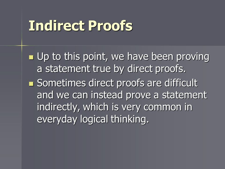 Geometry 63 Indirect Proof ppt video online download – Indirect Proof Worksheet