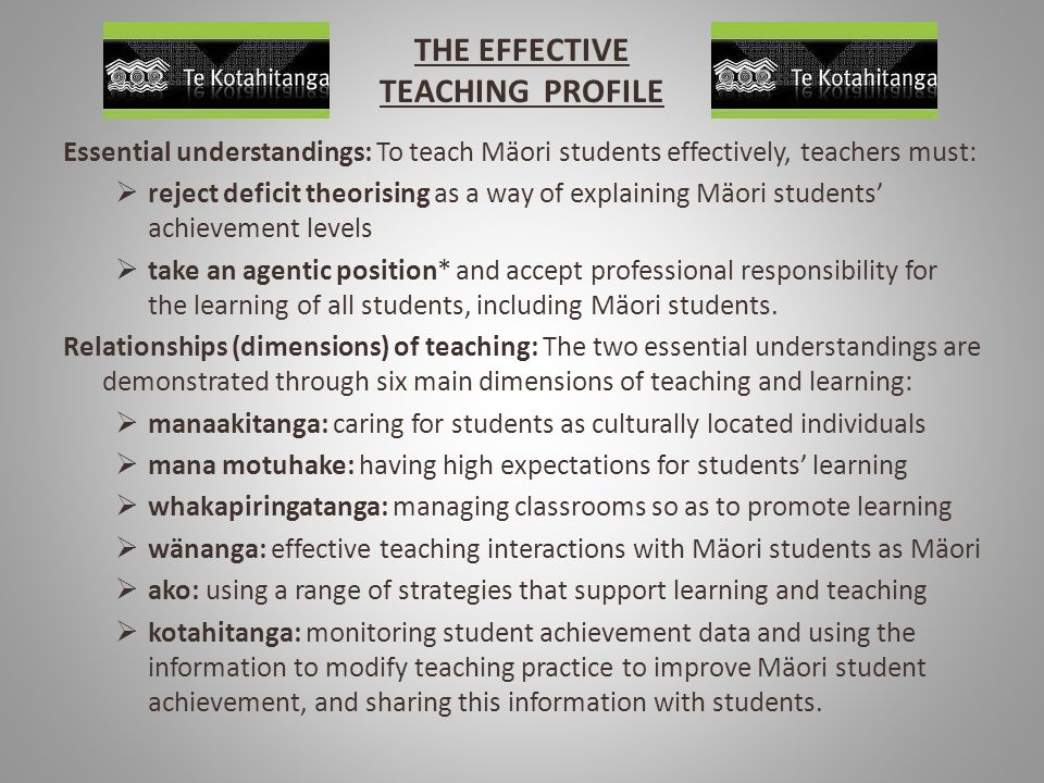 THE EFFECTIVE TEACHING PROFILE